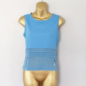 Adidas blue muscle tank top size small